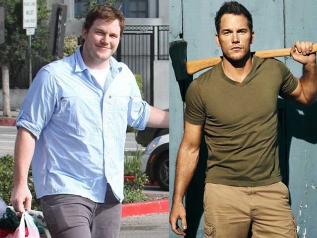 Chris Pratt before and after training
